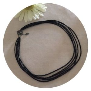 🆕Black Seed Beaded Delicate Necklace